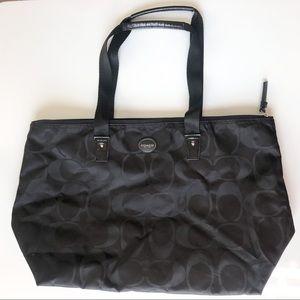 Coach Large Black Canvas Tote Bag
